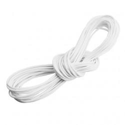 5m ou 10m Fil en Nylon Ciré 2mm Blanc