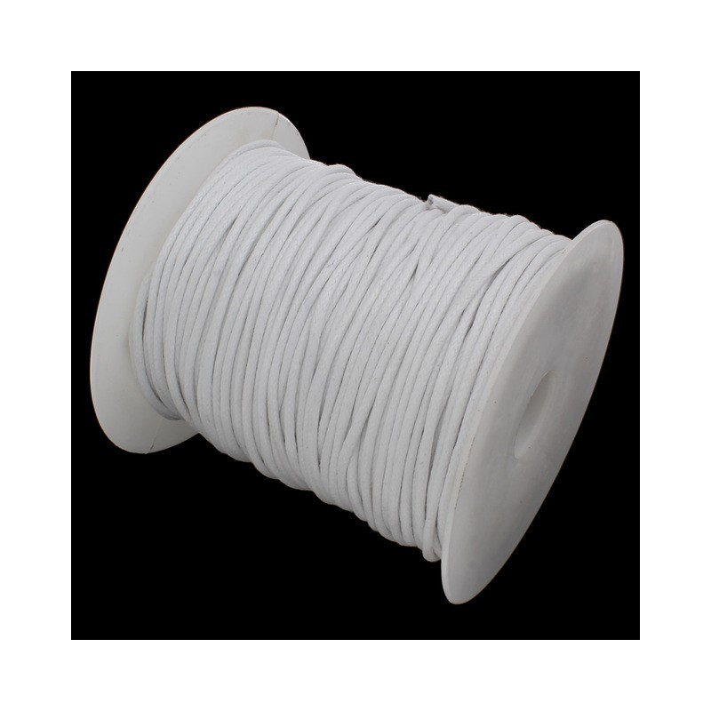 5m ou 10m Fil en Nylon Ciré 1,5mm Blanc MC0220113-14