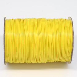 5m ou 10m Fil en Nylon Ciré 1,5mm Jaune MC0215105-6
