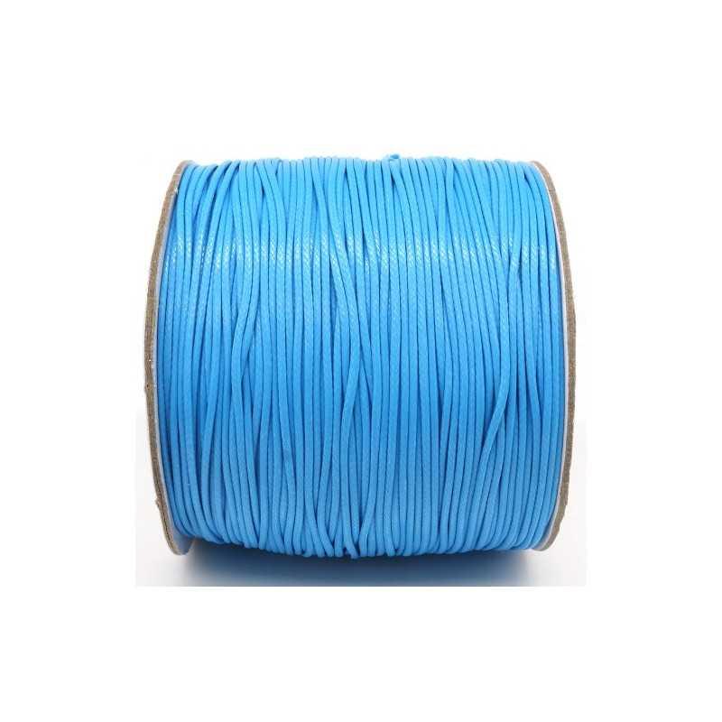 Fil en Nylon Ciré 1,5mm Bleu Clair 5m ou 10m