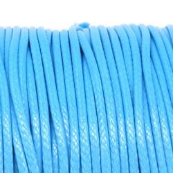 Fil en Nylon Ciré 1,5mm Bleu Clair 5m ou 10m MC0215101-2