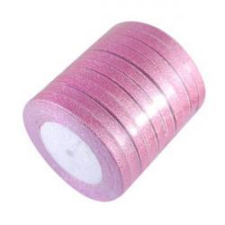 1 Rouleau Ruban Satin Sparkle 6mm avec Filet Doré environ 30m Ruban Etincelle MC0306100-8
