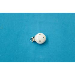Clip Pince Attache Tetine en Bois 3,5 cm Rond
