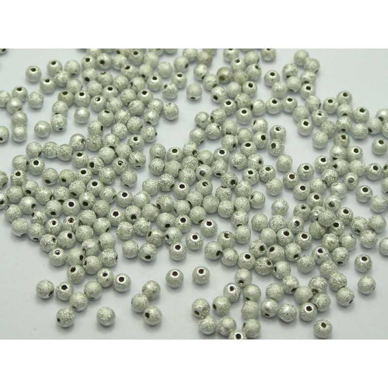 50 Perles Stardust 4mm Acrylique Argenté