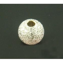 50 Perles Stardust 4mm Metal Argenté MC0104004