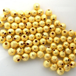 30 Perles Métal Stardust 5mm Doré MC0105003