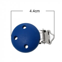 Clip Pince Attache Tetine Bleu Marine en Bois 3cm