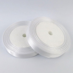 Ruban Satin 25mm Blanc Rouleau 22m MC0325001