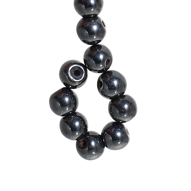 Lot 20 Perle Noir 4mm Hematite Magnetique
