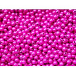 50 Perle 4mm Fuchsia Miracle Magique Effet Oeil de Poisson MC0104016