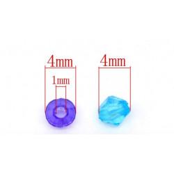 Lot 200 Mixte Perles Intercalaires Bicone toupie Acrylique 4 x 4mm MC0104020
