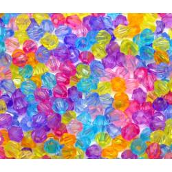 Lot 100 Mixte Perles Intercalaires Bicone toupie Acrylique 4 x 4mm MC0104019