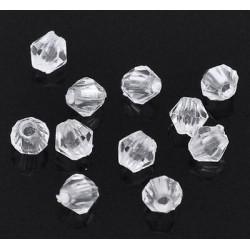 200 Transparent Perles Intercalaires Bicone toupie Acrylique 4 x 4mm MC0104022