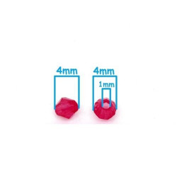 100 Perles Fuchsia Intercalaires Bicone toupie Acrylique 4 x 4mm MC0104025