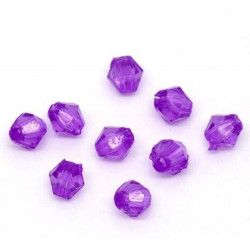 Lot 200 Violet Perles Intercalaires Bicone toupie Acrylique 4 x 4mm MC0104028