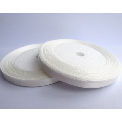 Rouleau Ruban Satin Blanc 10mm