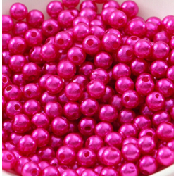 50 Perles 4mm Fuchsia imitation Brillant MC0104034
