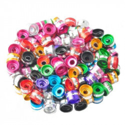 20 Perles Rondelles Aluminium 6mm x 4mm Mixte MC0106004