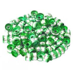 20 Perles Rondelles Aluminium 6mm x 4mm Couleur Vert MC0106006