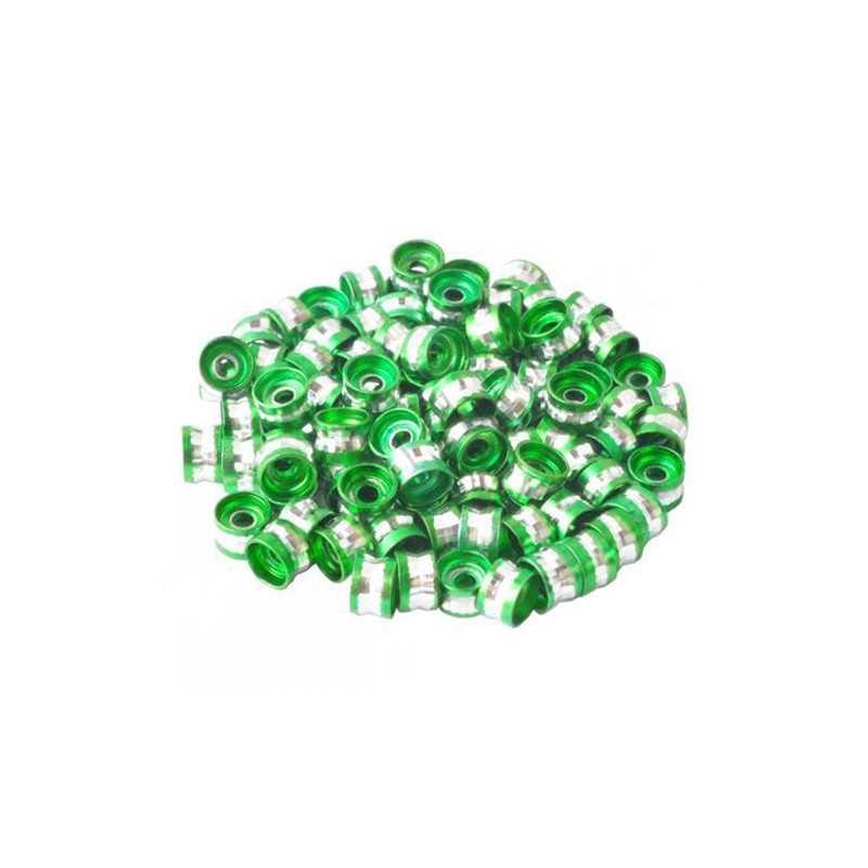 20 Perles Rondelles Aluminium 6mm x 4mm Couleur Vert