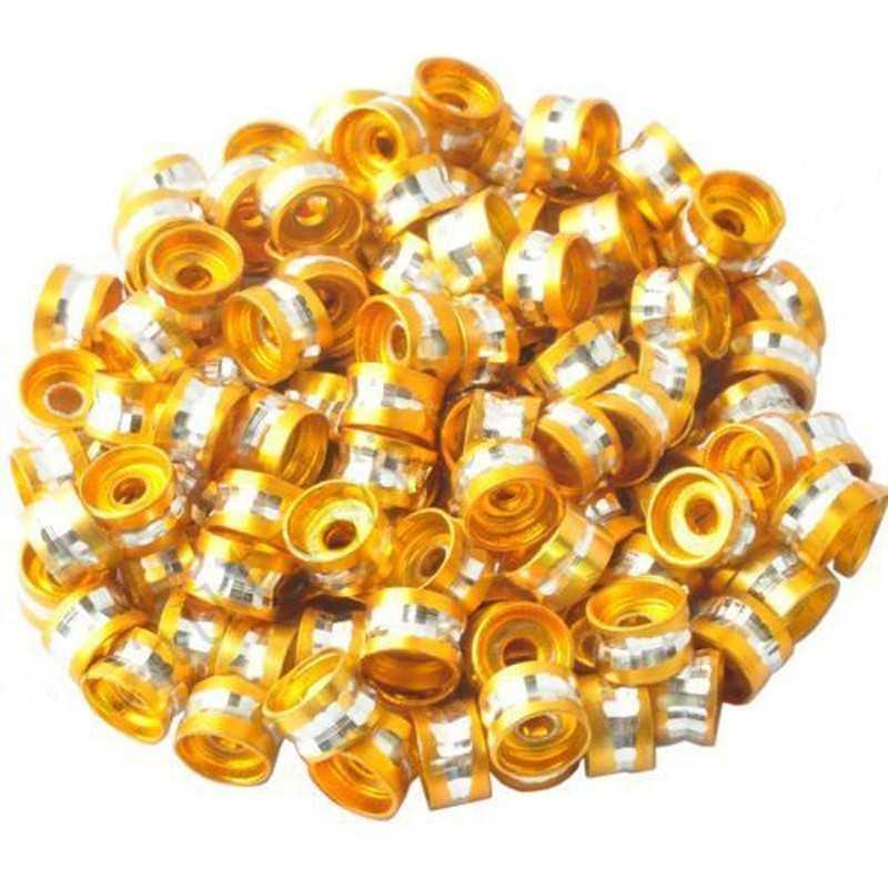 20 Perles Rondelles Aluminium 6mm x 4mm Couleur Doré