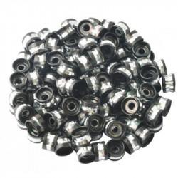 20 Perles Rondelles Aluminium 6mm x 4mm Couleur Noir MC0106008