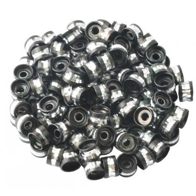 20 Perles Rondelles Aluminium 6mm x 4mm Couleur Noir