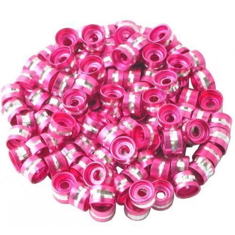 20 Perles Rondelles Aluminium 6mm x 4mm Couleur Fuchsia