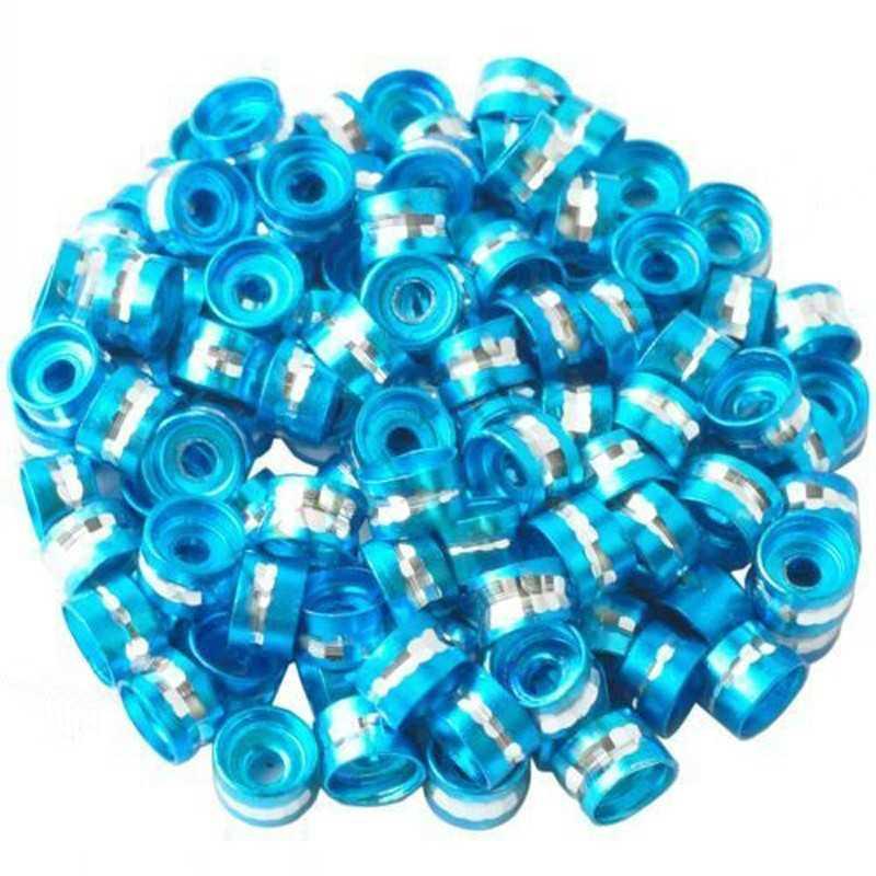 20 Perles Rondelles Aluminium 6mm x 4mm Couleur Turquoise