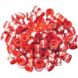 20 Perles Rondelles Aluminium 6mm x 4mm Couleur Rouge MC0106011