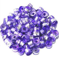 20 Perles Rondelles Aluminium 6mm x 4mm Couleur Violet MC0106012
