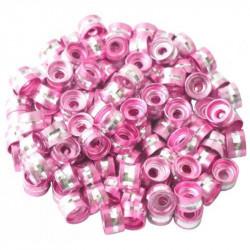 20 Perles Rondelles Aluminium 6mm x 4mm Couleur Rose MC0106013