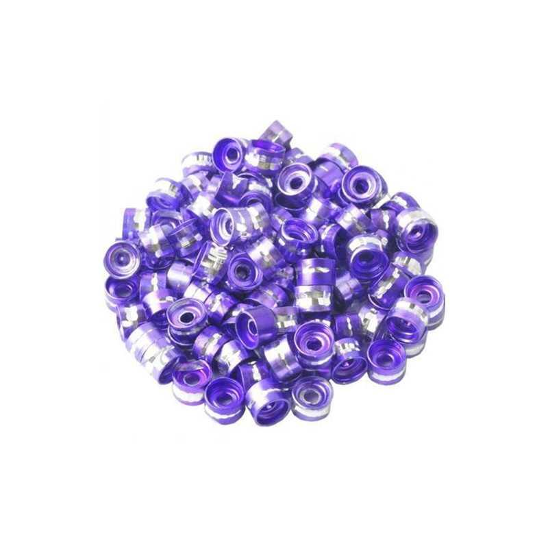 20 Perles Rondelles Aluminium 6mm x 4mm Couleur Au Choix