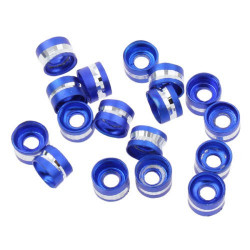 20 Perles Rondelles Aluminium 6mm x 4mm Couleur Bleu Marine MC0106014