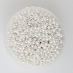 50 Perles 6mm Imitation Brillant Couleur Blanc MC0106031