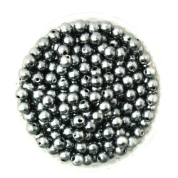 50 Perles 6mm Imitation Brillant Couleur Gris MC0106033