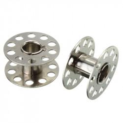 2 Bobines Canettes en Metal Pour Fil de Machine à Coudre MC0400004