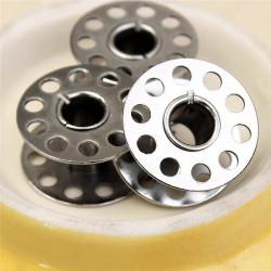 5 Bobines Canettes en Metal Pour Fil de Machine à Coudre MC0400006