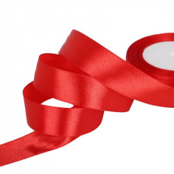 Ruban Satin Rouge 25mm Rouleau 22m MC0325015