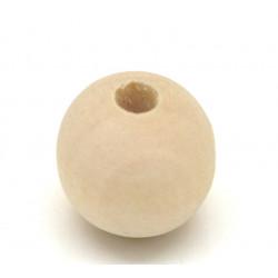 5 - 10 - 20 Perle en Bois 16mm Naturel MC0116001-3