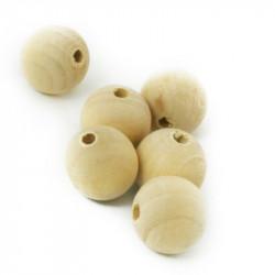 5 - 10 - 20 Perle en Bois 18mm Naturel Mc0118001-3