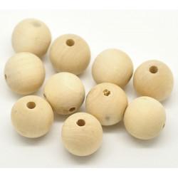 5 - 10 - 20 Perle en Bois 20mm Naturel MC0120001-3