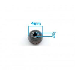 20 Perle Noir 4mm Hematite Non-Magnetique MC0104050