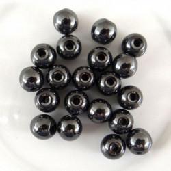 20 Perle Noir 6mm Hematite Non-Magnetique MC0106092