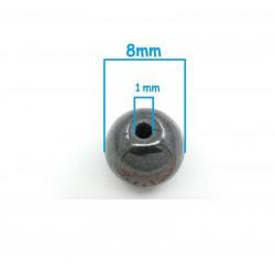 20 Perles Hematite Noir 8mm Non-Magnetique MC0108063
