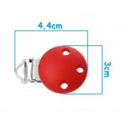 Clip Pince Attache Tetine Rouge 3cm MC2030514