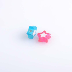 20 Perle en Acrylique Etoile 9mm Mixte MC0400008