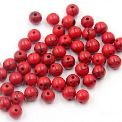 10 perle Rouge 8mm Naturel Pierre Turquoise MC0108203