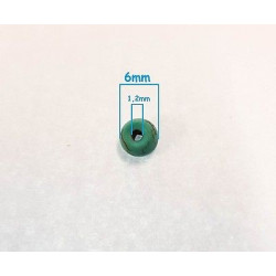 20 Perle Rondelle Mixte Naturel Pierre Turquoise 6mm
