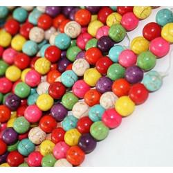 20 Perle Mixte Naturel Pierre Turquoise 6mm